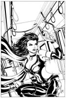 Dark X-girl Cover - Inks by Elisa-Feliz