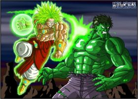 Broly VS Hulk by DBZwarrior