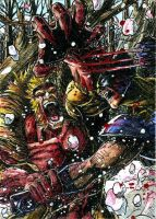Wolverine Sabretooth ATC Color by DKuang