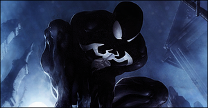 Symbiote Spidey Cemetery Sig by RadillacVIII