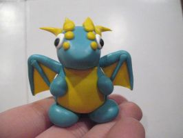 Blue and Yellow Dragon by drakeo1903