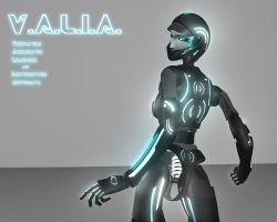 V.A.L.I.A. Tron Version by X4vrztesp