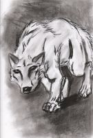Wolf in Charcoal by Wolfbeauty