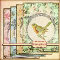 SHABBY BIRD FRAMES digital collage SHEET by miabumbag