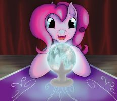 Let Pinkie reveal your future. by Emerald-Glaceon
