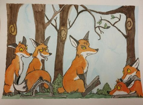 Aesop: How the fox lost his tail by Waddle2u