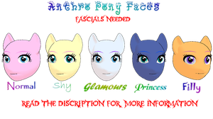 MMD Anthro Pony Faces WIP (facials needed) by CrazedVampireGirl
