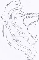 Lion Tattoo Outline by moehawk37