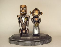 Robot Wedding Bride and Groom by buildersstudio