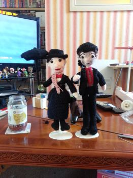 Mary Poppins and Bert by Ulla-Andy