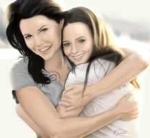 Gilmore Girls Painting by Alexa-D-123