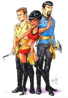 Imperial Kirk Uhura and Spock by andypriceart