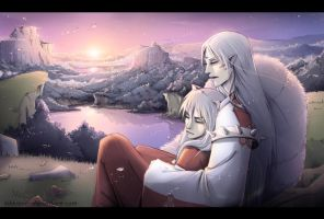 Inuyasha and Sesshomaru by Kibbitzer