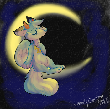 Sit On A Moon by lonely-galaxies