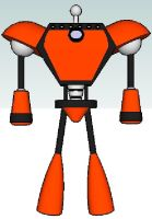 Tom and Jerry Mars Tron Robot front by PapercraftKing