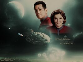 Janeway/Chakotay: TIme to go home by Belanna42