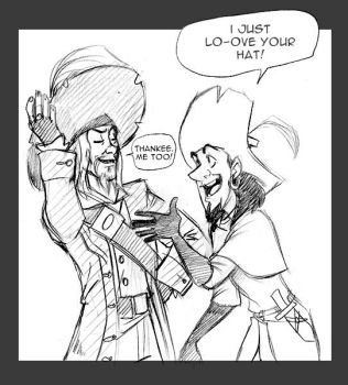 Clopin,Barbossa: Shared Love by Crispy-Gypsy