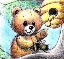 Bear and a beehive by don234a