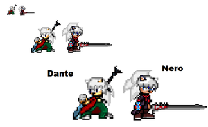 Dante and Nero DMC Sprites .:.Sonic Style.:. by FlameBurstAnimations