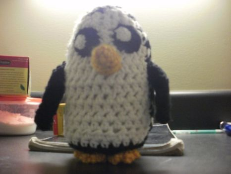 Crocheted Adventure Time Gunther Plush by neeanam