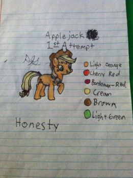 Applejack 1st Attempt by Gabe9988