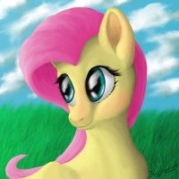 Fluttershy portrait by blueSpaceling