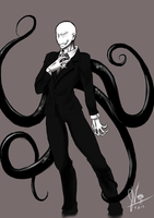 Slenderman..... by invaderwolfgirl