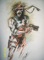 Solid Snake Metal Gear Solid 2 sons of liberty by TheSniper92