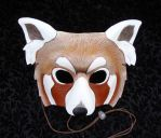 Red Panda Leather Mask by merimask