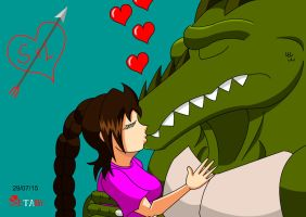 Samantha and Leatherhead by Zetaby2594