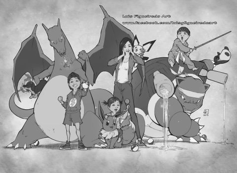 Pokemon Ben Family  Commission by marvelmania