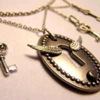Flying Keyhole Necklace by SteamSociety
