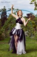 White underbust corset dress 2012 collection by Esaikha