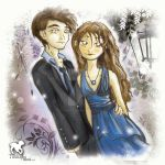 Bella Edward Prom Photo Opt by Twilight-Inked