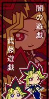 Chibi Yugi and Yami bookmark by Malindachan