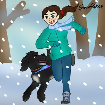 My dog and me by snowflake12298