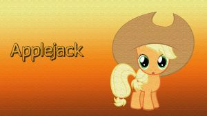 Big Hat Applejack Filly Wallpaper by CKittyKat98