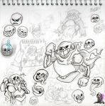 A bunch of undertale drawings by KnockPainter