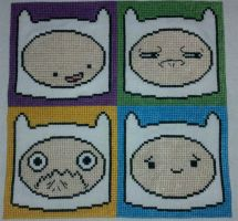 Four Faces of Finn the Human by starrley