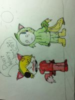 pewdiepie and cry, bloody trapland. by MegaAna135