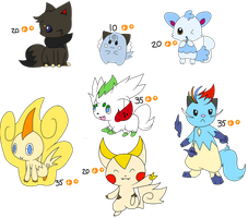 Leftover Pokemon Hybrid Adopts by Aven-Mochi