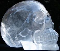 Quartz Crystal Skull 006a by SKULLKRAFT