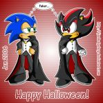 Halloween 06 :Sonic n Shadow: by JenHedgehog