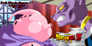 Beerus VS Majin Buu by Evil-Black-Sparx-77