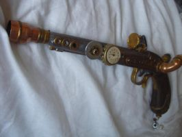 Steampunk flintlock by BambooBandit