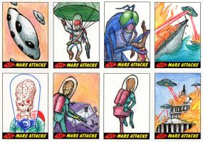 Heritage Mars Attacks! Sketch Cards - 04 by Monster-Man-08
