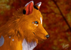 Autumn Breeze by WolfHowl10