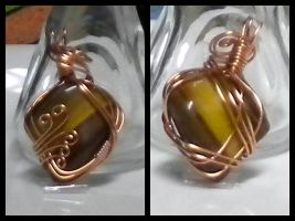 Copper and Golden Tiger's Eye by Zorias