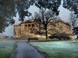 Foggy Morning - Kimbolton Castle by davepphotographer