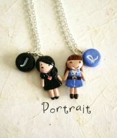 Friendship Necklaces with your portrait! by FlowerLandBySaraMax